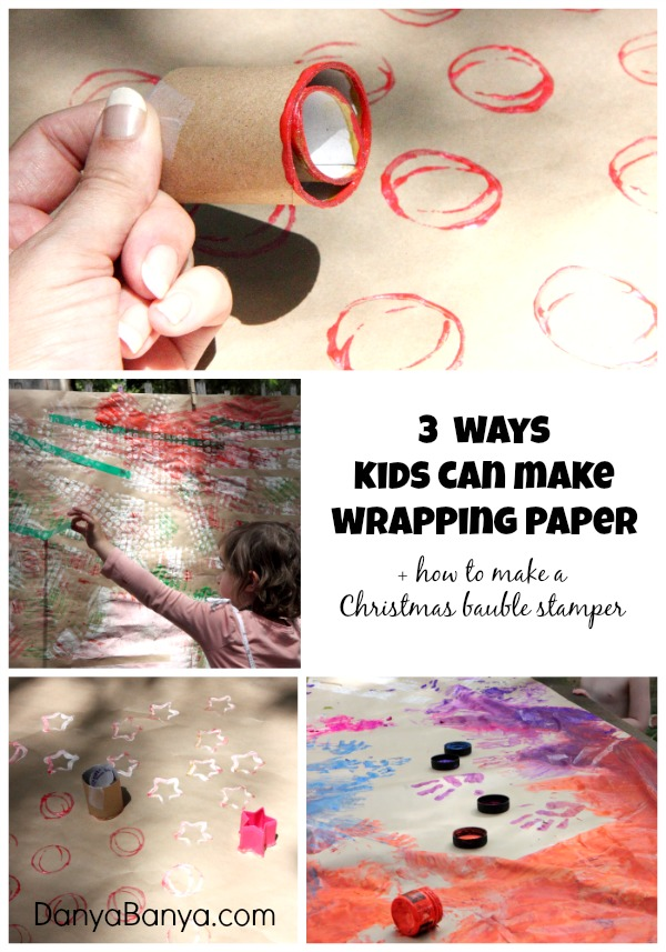 Make Your Own Wrapping Paper A Diy Christmas Bauble