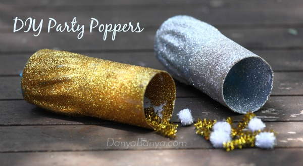 DIY Party Poppers - perfect for kids parties or New Years Eve ~ Danya Banya
