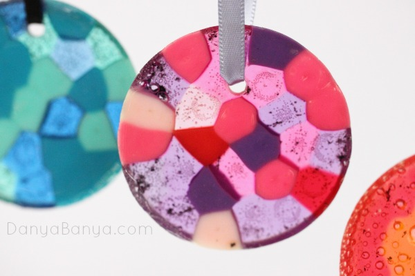 asy melted pony bead ornament for preschooler gifts