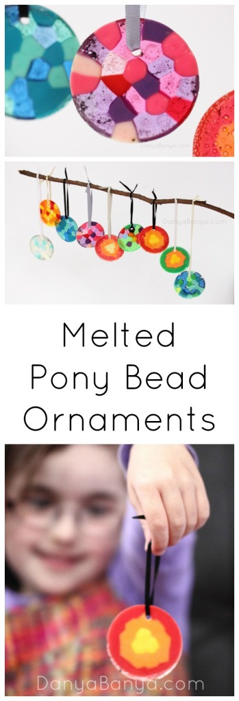 How to make melted pony bead ornaments or suncatchers ~ Danya Banya