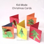 Bubble wrap print Christmas cards for preschoolers