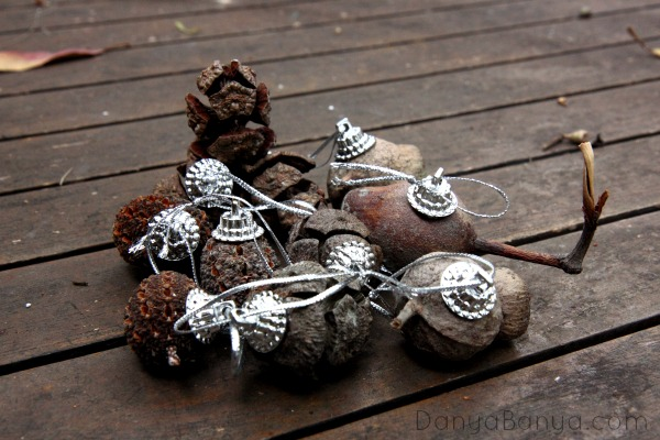 Making ornaments from nature