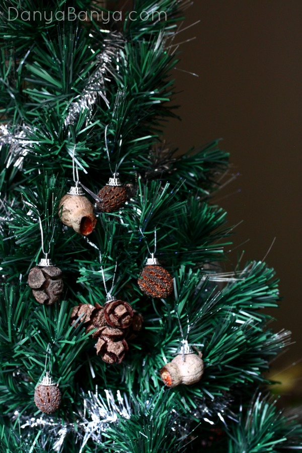 Ornaments made by found natural seedpods