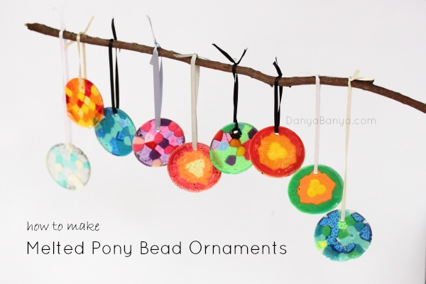 how to make melted pony bead ornaments ~ Danya Banya