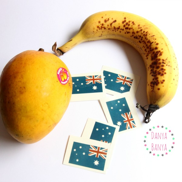 Australian mango and banana
