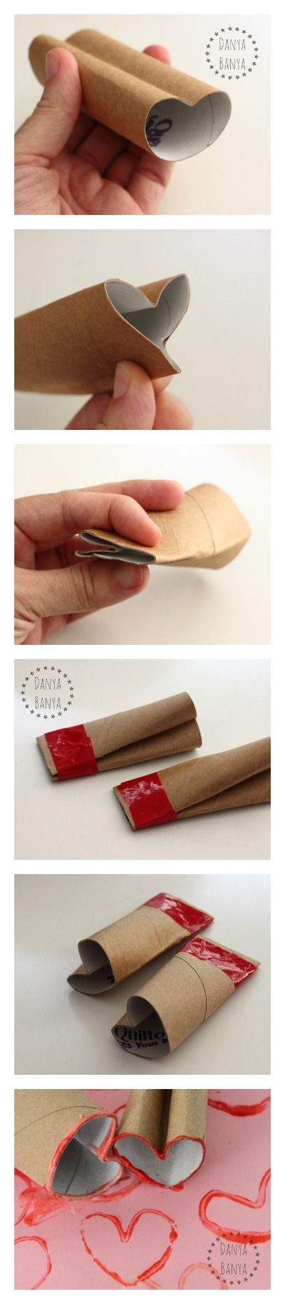 How to make a heart shape stamp