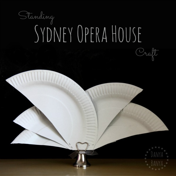 Paper plate sydney opera house craft danya banya for Australia day decoration