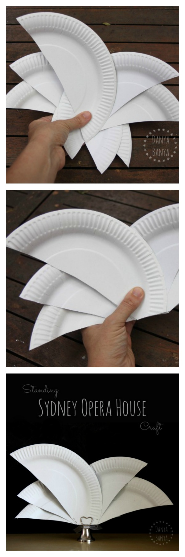 How to make an easy Sydney Opera House from paper plates