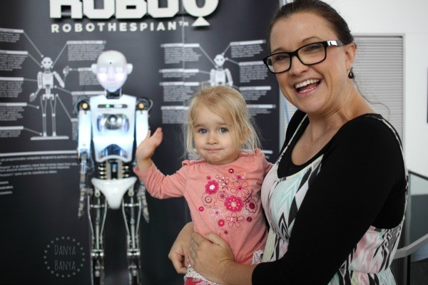 Meeting Robo the Robot at Questacon