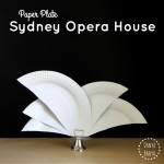 Paper Plate Sydney Opera House craft