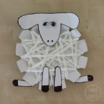 Preschool woolly sheep or lamb craft from paper plates