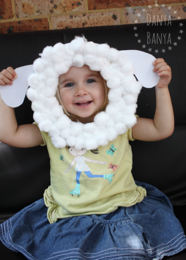 Cute sheep mask kids craft - Danya Banya