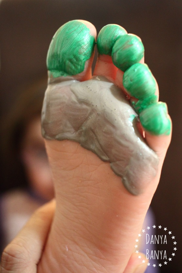 Painting a TMNT footprint