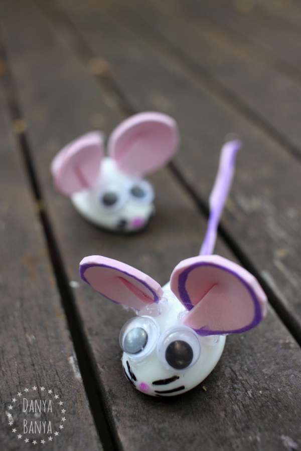 Cute mice that kids can help make, by Danya Banya