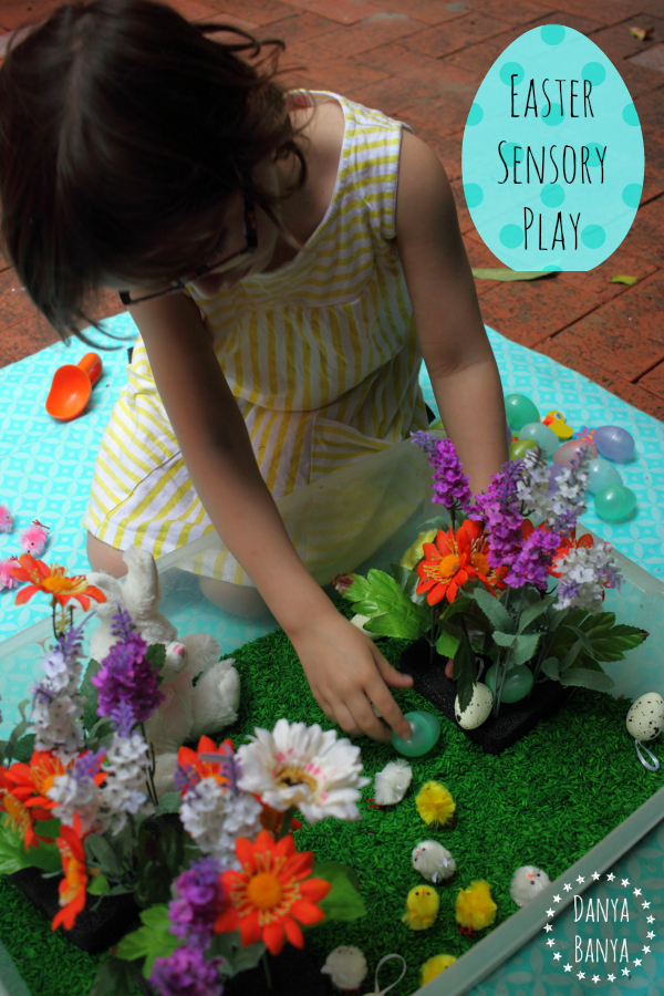 Easter sensory play for kids