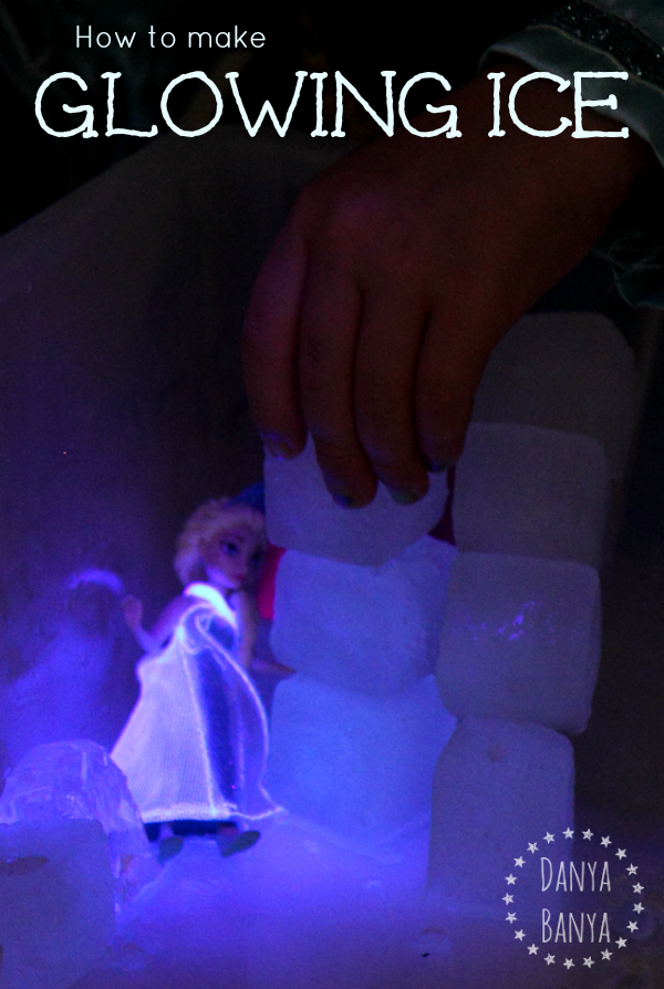 How to make glowing ice - and let your kids build a frozen ice castle that Elsa would be proud of