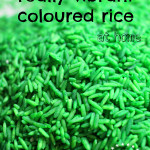 How to Make Really Vibrant Coloured Rice (for Kids Craft or Sensory Play)