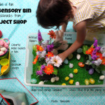 Make a fun Easter Sensory Bin with knickknacks from The Reject Shop