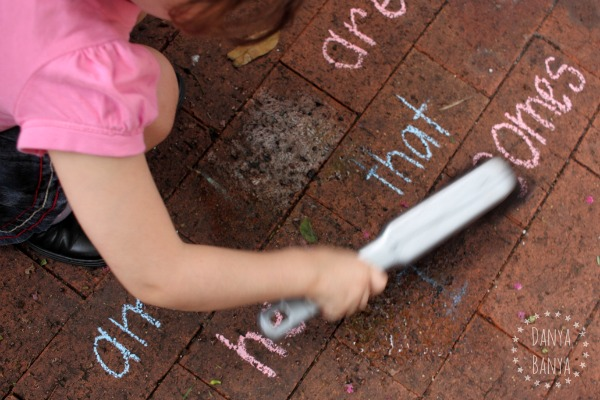 Making early literacy fun scrubbing sight words
