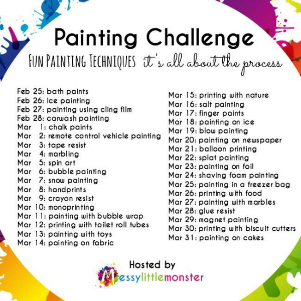 Painting Challenge - its all about the process
