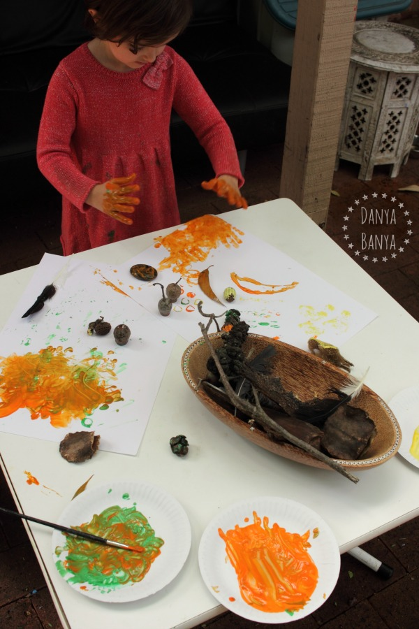 Painting hand prints