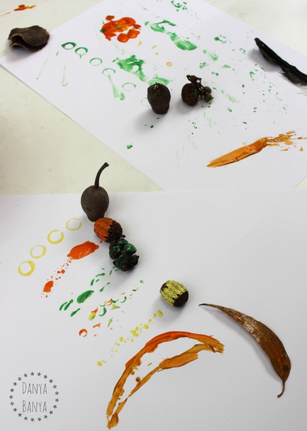 Printing with natural items