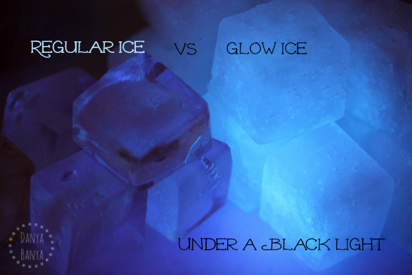 Regular Ice vs Glow Ice under a black light