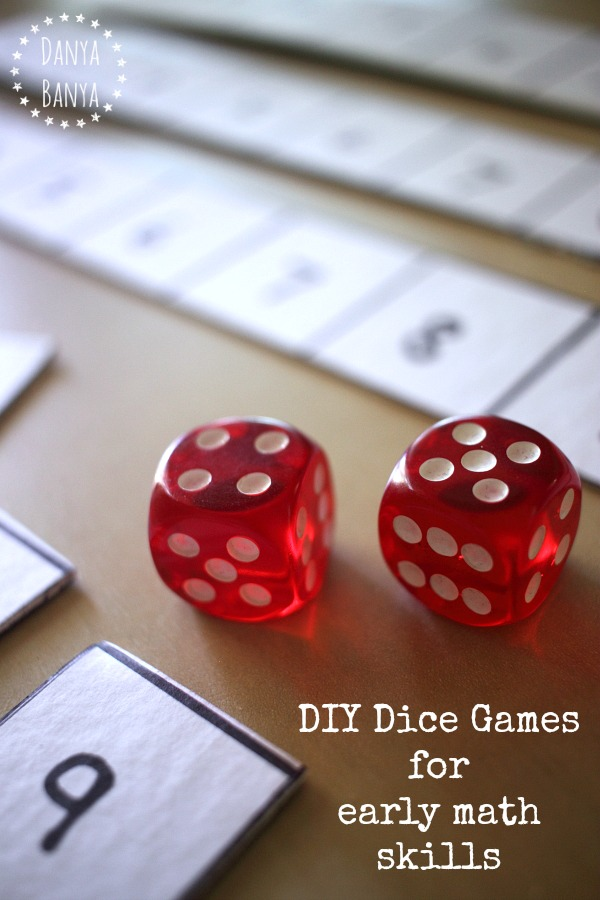 DIY Dice Games for early maths skills