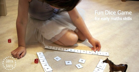 Fun Dice Game for early maths skills