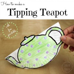 Kids can make a Tipping Teapot with downloadable free printable ~ Danya Banya