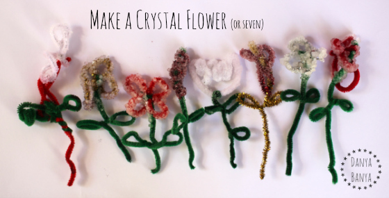 Make a crystal flower (or seven)