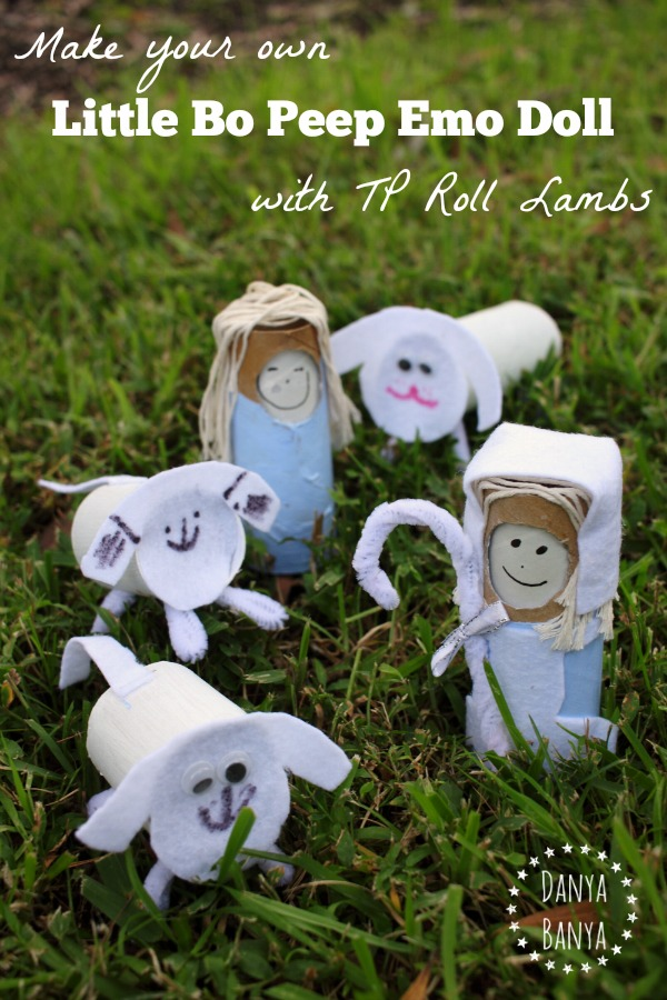 Make your own Little Bo Peep Emo Doll with TP Roll Lambs