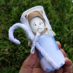Worried Little Bo Peep toilet paper roll doll