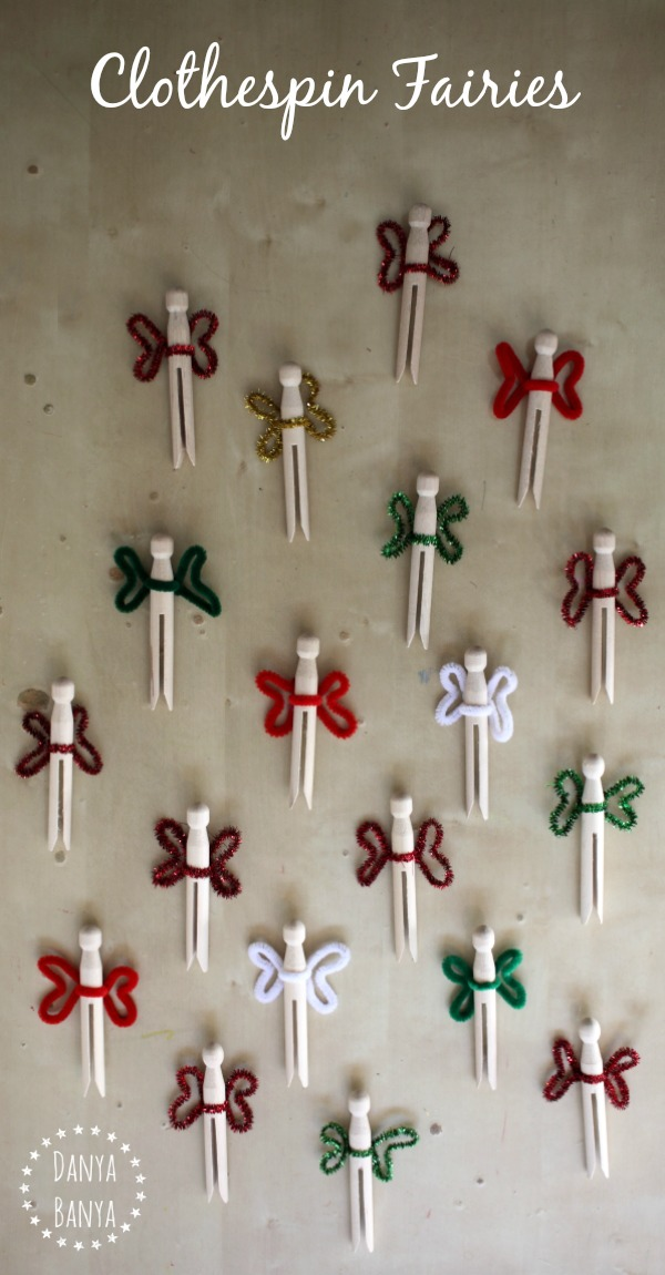Simple clothespin fairy dolls