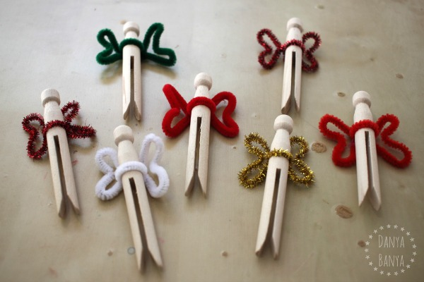 DIY clothespin fairies