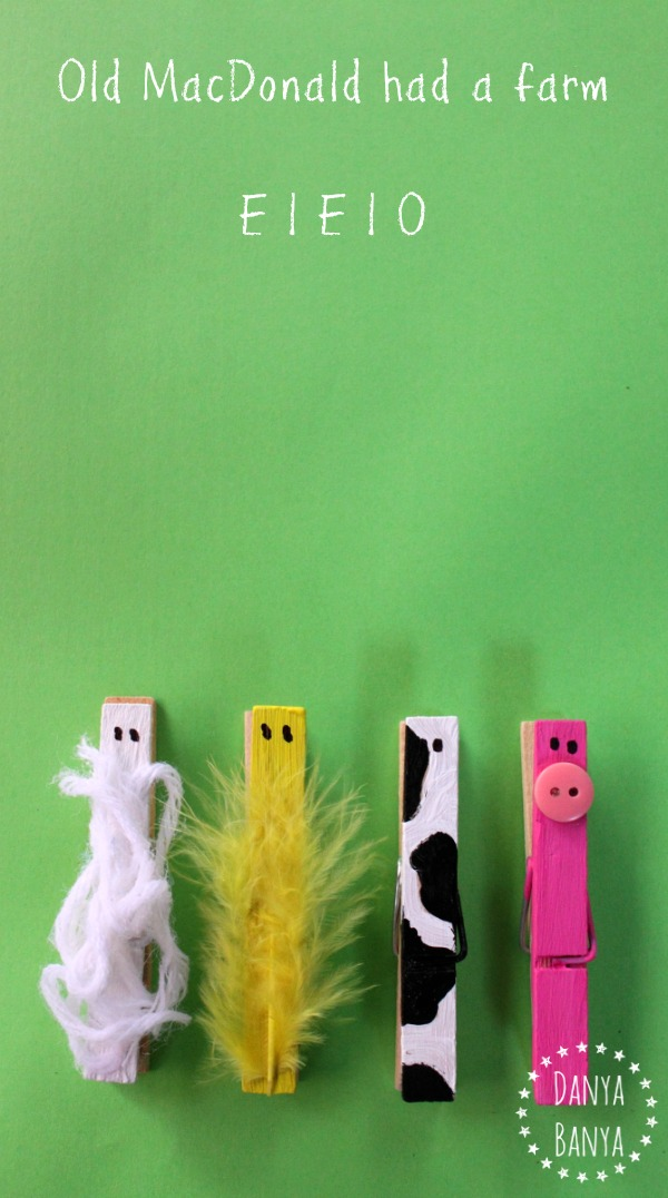 Old MacDonald had a farm peg animals