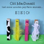 Old MacDonald had some wooden peg farm animals
