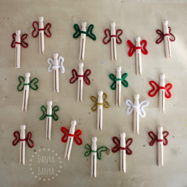 Clothespin peg fairies