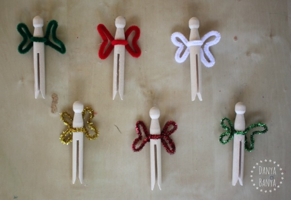 Simple DIY clothespin fairies