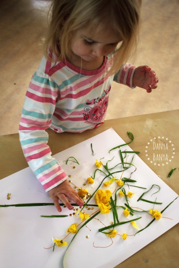 Toddler Art Wattle Collage