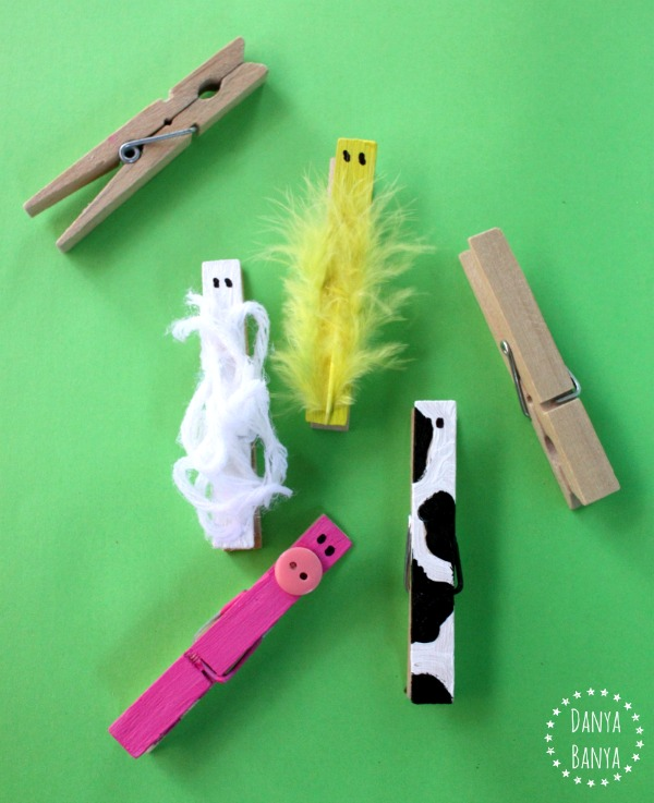Wooden Peg Farm Animals