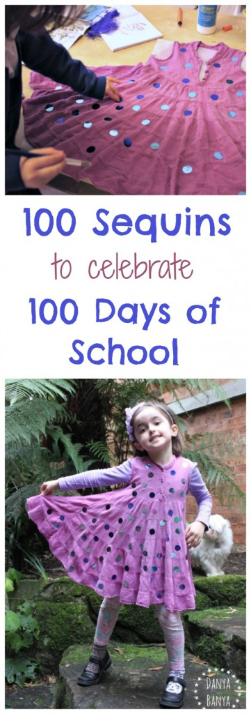 Easy outfit idea (that kids can help make!) - 100 sequins to celebrate 100 days of school