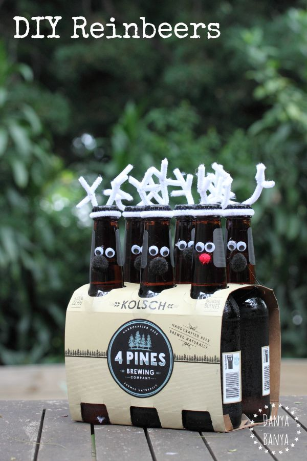 DIY Christmas Idea for beer-lovers: DIY Reinbeers!