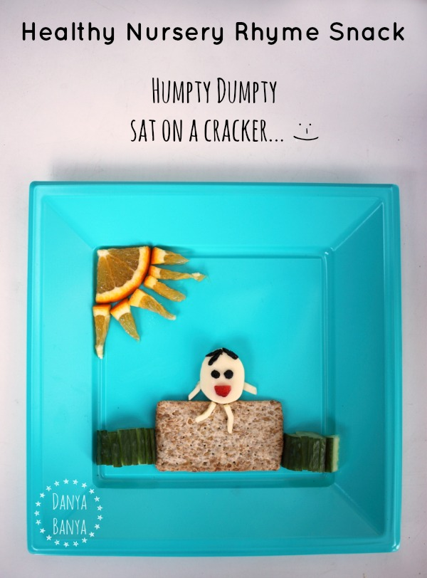 Healthy Nursery Rhyme Snack - Cheese Humpty Dumpty