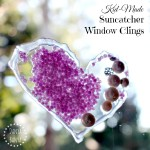 Kid-made Suncatcher Window Clings