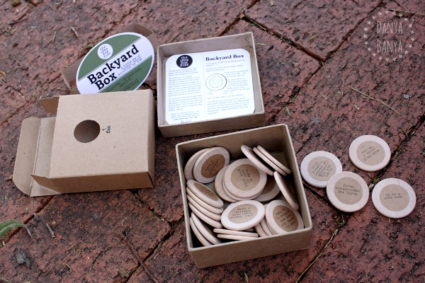 Backyard box - gift idea to encourage kids to play outside