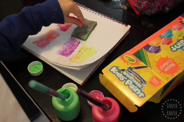 Painting with a sponge