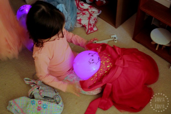 dressing up the big sister Illoom light up balloon