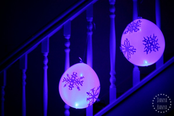 glowing frozen balloon decorations