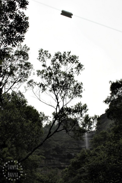 View of the Scenic Skyway and Katoomba Falls waterfall from the Blue Mountains National Park